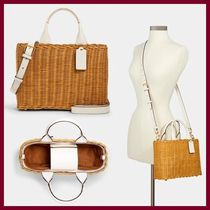 【COACH】 Wicker Carryall 2way ☆かごバッグ