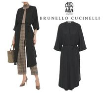 BRUNELLO CUCINELLI☆melange cashmere and silk-blend cardigan