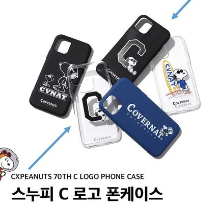 COVERNAT スマホケース・テックアクセサリー CXPEANUTS 70th C LOGO PHONE CASE(clear, black)
