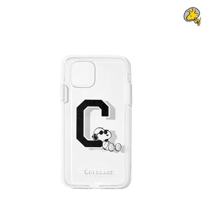 COVERNAT スマホケース・テックアクセサリー CXPEANUTS 70th C LOGO PHONE CASE(clear, black)(2)