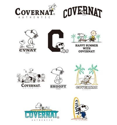 COVERNAT スマホケース・テックアクセサリー CXPEANUTS 70th C LOGO PHONE CASE(clear, black)(8)