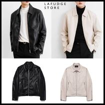 ◆LAFUDGE STORE◆ BUFFING LEATHER ZIP UP TUCKER JACKET (2色)
