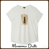 MassimoDutti♪LYOCELL AND COTTON SILHOUETTE T-SHIRT