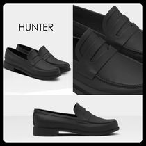 【HUNTER】Men's Refined Penny Loafers ローファー 防水 黒
