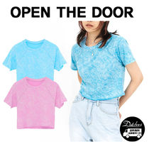 OPEN THE DOOR neon tie-dye 1/2 crop T (2 color) YI499 追跡付