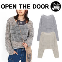 OPEN THE DOOR india crop knit (2 color) YI505 追跡付