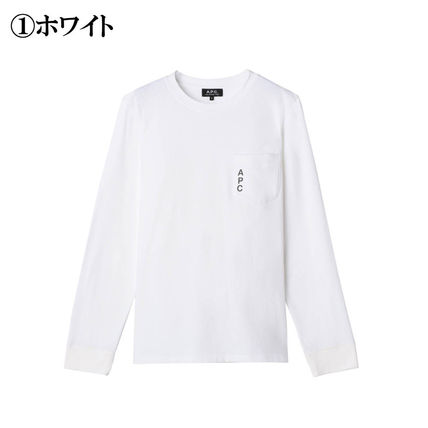 A.P.C. Tシャツ・カットソー 完売必須!!【A.P.C.】ロゴ入りポケット付長袖Tシャツ 2色(2)
