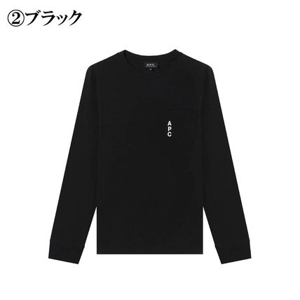 A.P.C. Tシャツ・カットソー 完売必須!!【A.P.C.】ロゴ入りポケット付長袖Tシャツ 2色(3)