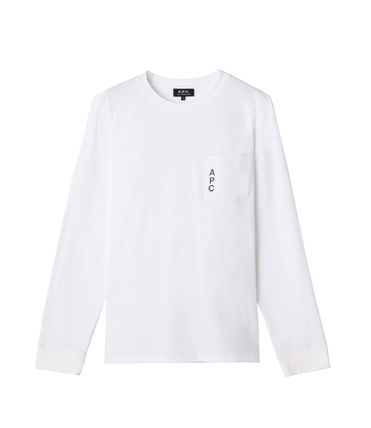 A.P.C. Tシャツ・カットソー 完売必須!!【A.P.C.】ロゴ入りポケット付長袖Tシャツ 2色(4)