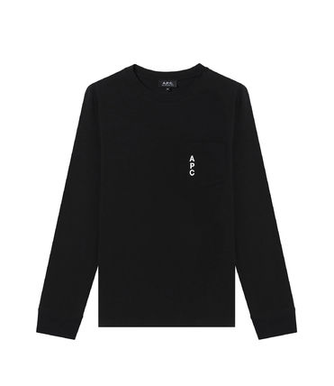 A.P.C. Tシャツ・カットソー 完売必須!!【A.P.C.】ロゴ入りポケット付長袖Tシャツ 2色(6)