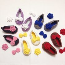 [DEAR MY BABY] KNITTING RIBBON BABY SHOES (23 X 23 COLORS)