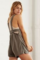 Free People Movement Heart Center Romper★SMOKE GREY