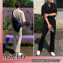 ASCLO★韓国の人気★SUMMER LINEN RETRO SETUP 3色