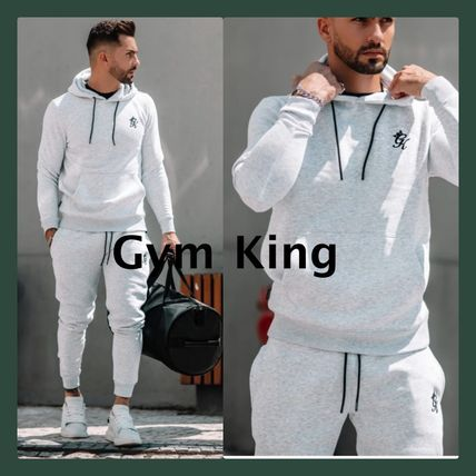 Gym King セットアップ gymking*メンズ*ロゴパーカーショーツセットアップ送関税込み