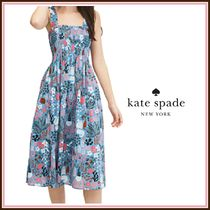 kate spade☆【復刻】casual garden posy smocked dress☆送料込