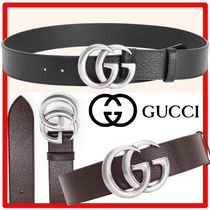 ★GUCCI★グッチ★Leather belt with Double G buckle★メンズ★