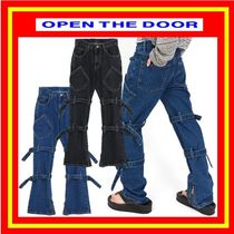 [OPEN THE DOOR]  bondage denim pants (2色) /追跡付