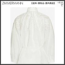 Zimmermann☆トップス☆Carnaby floral-embroidered ramie top