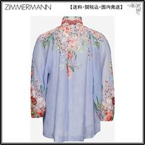 Zimmermann☆トップス☆Funnel-neck floral-print ramie top
