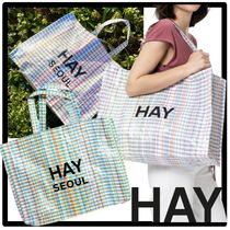 ★送料・関税込★HAY★HAY Multi Check Shopper★バッグ