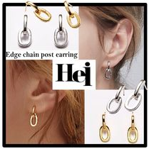 ★送料・関税込★Hei★edge chain post earring★ピアス