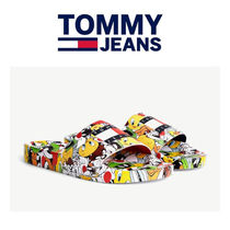 ☆TOMMY JEANS☆LOONEY TUNES POOL SLIDES コラボサンダル