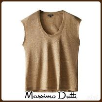 MassimoDutti♪SCOOP NECK LINEN TOP