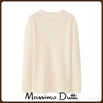 MassimoDutti♪HIGH NECK WOOL RIBBED SWEATER