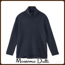 MassimoDutti♪WOOL CASHMERE ROLL NECK CAPE SWEATER