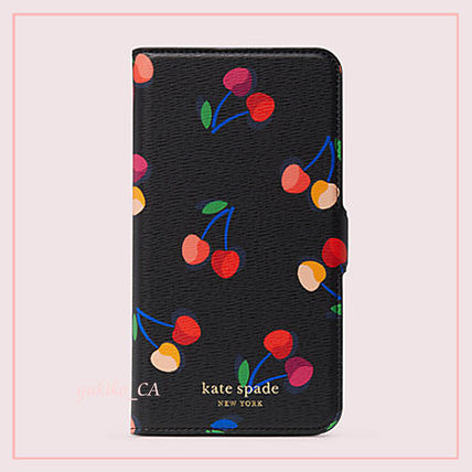 kate spade new york スマホケース・テックアクセサリー 【国内発送】spencer cherries iphone magnetic wrap folio case(2)