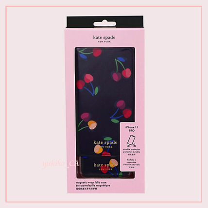 kate spade new york スマホケース・テックアクセサリー 【国内発送】spencer cherries iphone magnetic wrap folio case(6)