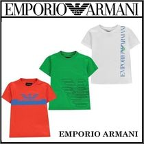 EMPORIO ARMANI ボーイズ ロゴ プリント Tシャツ 3枚セット