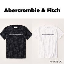 Abercrombie & Fitch フローラル ロゴTシャツ 2色