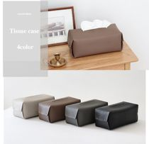fake leather tissue case 4color