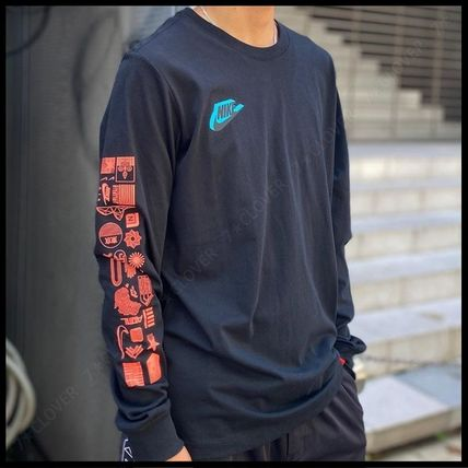 Nike Tシャツ・カットソー 国内発送・正規品★ナイキ NIKE★MEN'S NSW HBR WORLDWIDE L/S T(5)