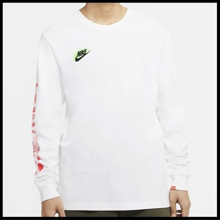 Nike Tシャツ・カットソー 国内発送・正規品★ナイキ NIKE★MEN'S NSW HBR WORLDWIDE L/S T(8)