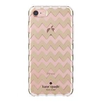 【国内発送】 kate spade★Gold Chevron iPhone7/8/SE ケース