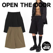 OPEN THE DOOR matte half pants (2 color) YI531 追跡付