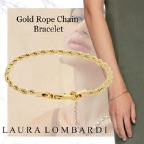 NEW!!Laura Lombardi-Gold Rope Chain Bracelet- Brass