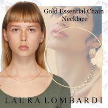 NEW!!Laura Lombardi-Gold Essential Chain Necklace- Brass