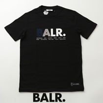 BALR.TシャツMULTI LOGO SHIRT STRAIGHT ロゴ刺繍b10097-bk