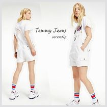 Tommy Jeans*ダンガリーショートサロペット*White*送料込