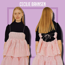CECILIE BAHNSEN Selena タイバックトップス ピンク