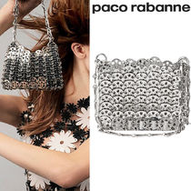 【paco rabanne】1969★ナノ ショルダー チェーンバッグ Silver