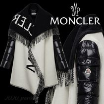 Moncler★2020AW★ロゴ入フリンジ付ケープ★送料&関税込