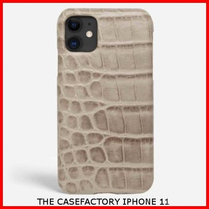 THE CASE FACTORY スマホケース・テックアクセサリー 関税送料込☆THE CASEFACTORY☆IP11 CROCODILE MASTICE MIXED