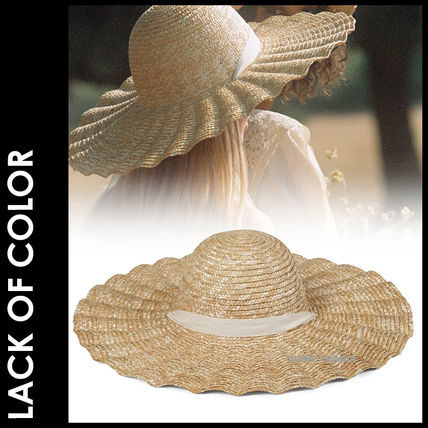 lack of color ストローハット ★追跡&関税込【Lack of Color】Scalloped Dolce Hat
