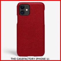関税送料込☆THE CASEFACTORY☆IPHONE 11 LIZARD SCARLETT