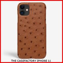 関税送料込☆THE CASEFACTORY☆IPHONE 11 OSTRICH COGNAC