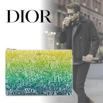 【DIOR】20AW新作*DIOR AND SHAWN ロゴ ナイロン フラットポーチ
